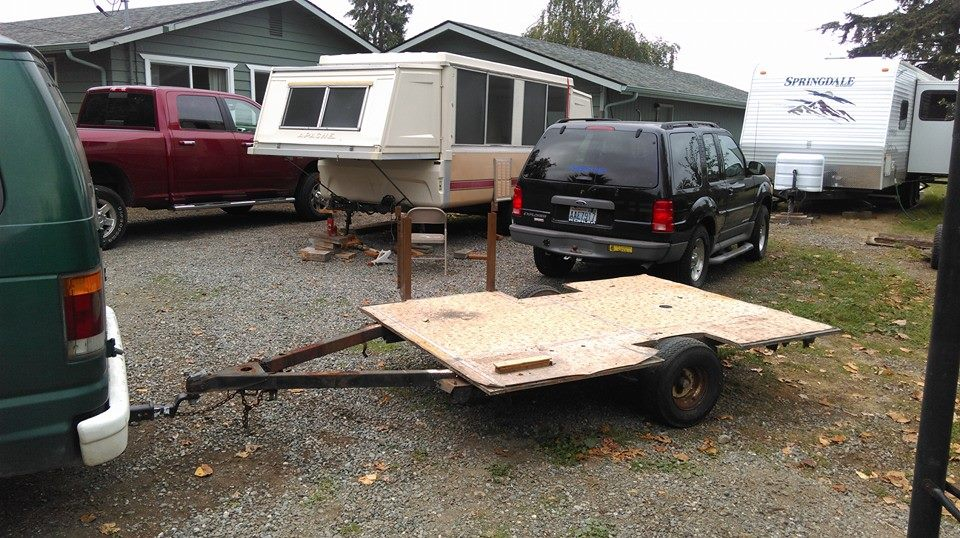 Tent trailer purchased for $75.